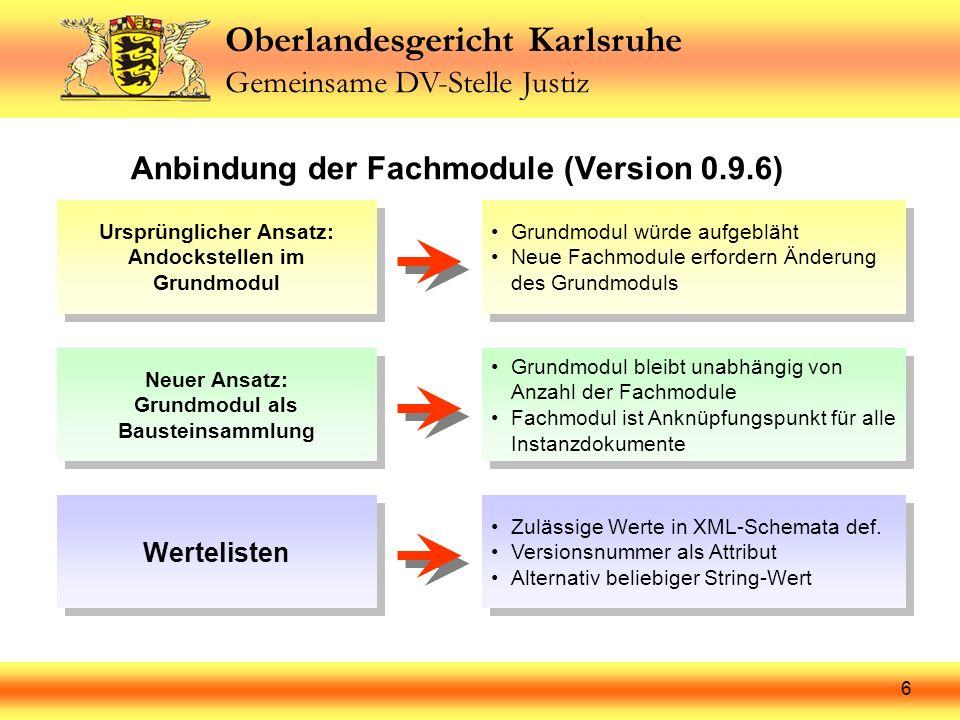 Anbindung der Fachmodule (Version 0.9.6)