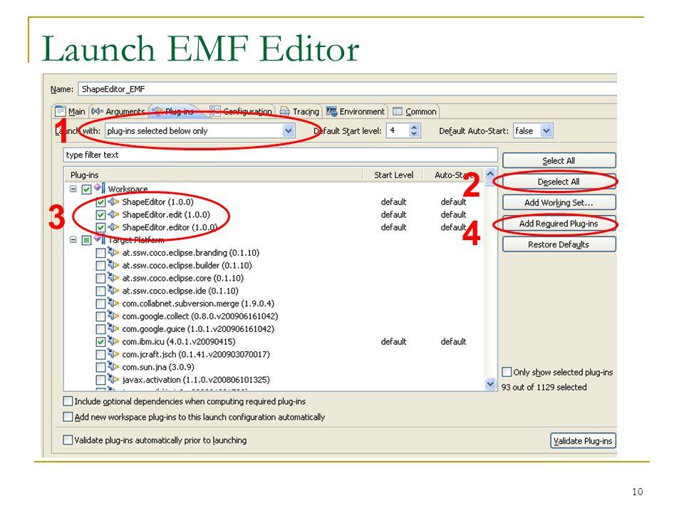 Launch EMF Editor 1 2 3 4 Was haben wir jetzt