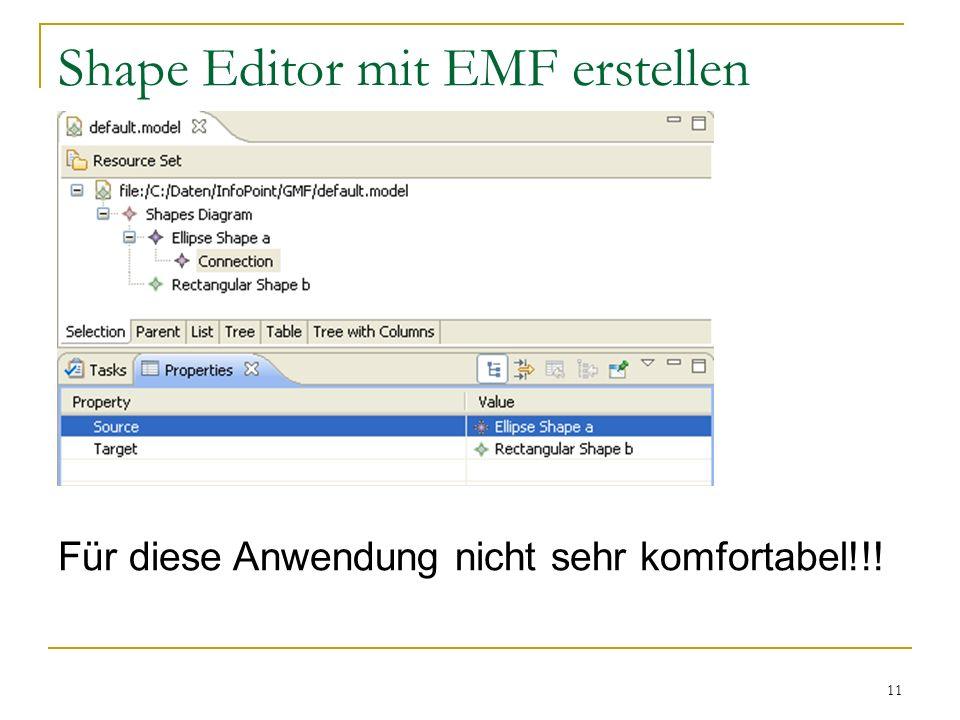 Shape Editor mit EMF erstellen
