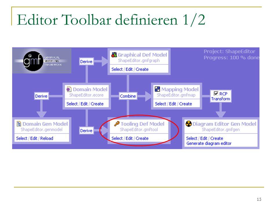 Editor Toolbar definieren 1/2