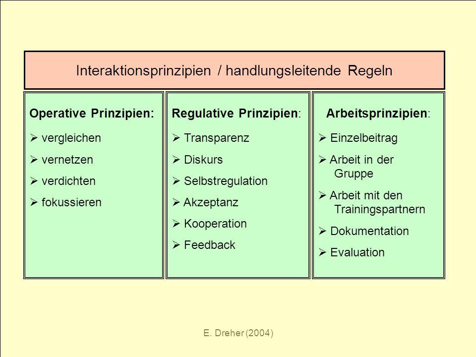 Interaktionsprinzipien / handlungsleitende Regeln