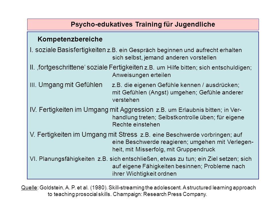 Psycho-edukatives Training für Jugendliche
