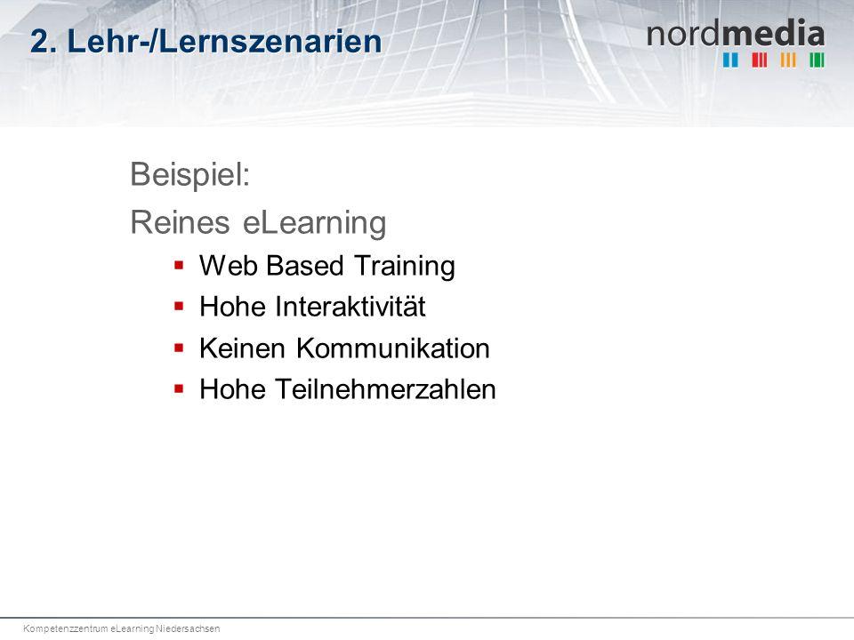 2. Lehr-/Lernszenarien Beispiel: Reines eLearning Web Based Training