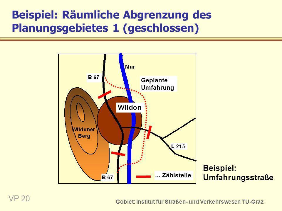Beispiel: Räumliche Abgrenzung des Planungsgebietes 1 (geschlossen)