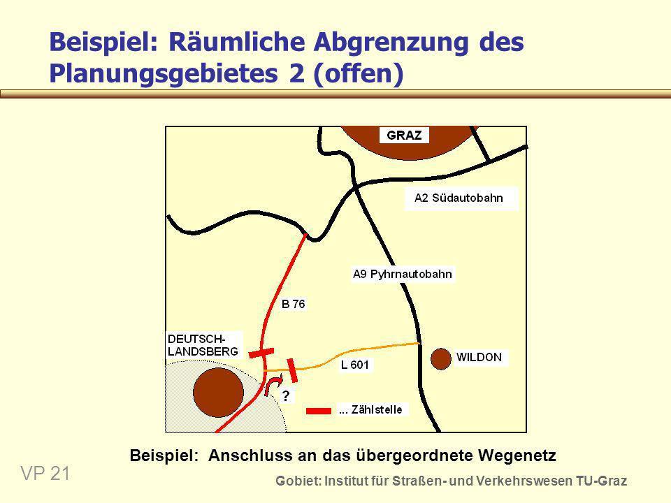 Beispiel: Räumliche Abgrenzung des Planungsgebietes 2 (offen)
