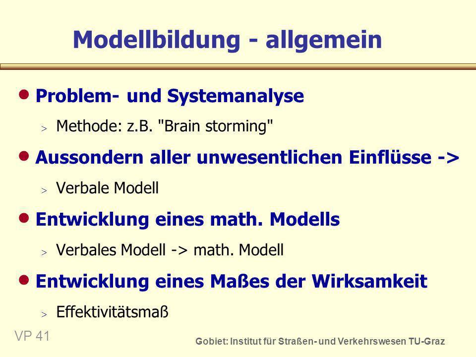 Modellbildung - allgemein