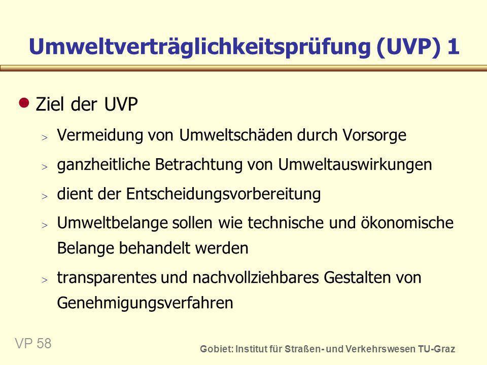 Umweltverträglichkeitsprüfung (UVP) 1