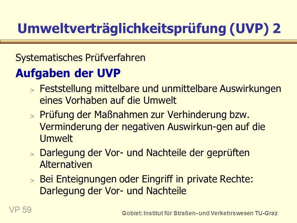 Umweltverträglichkeitsprüfung (UVP) 2