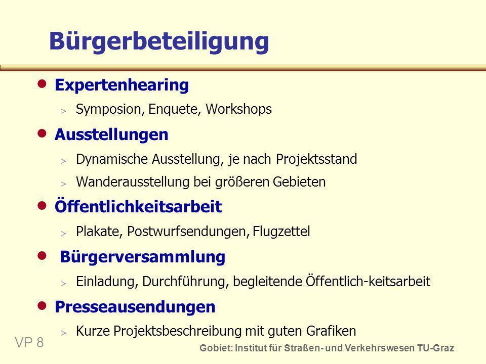 Bürgerbeteiligung Expertenhearing Ausstellungen Öffentlichkeitsarbeit