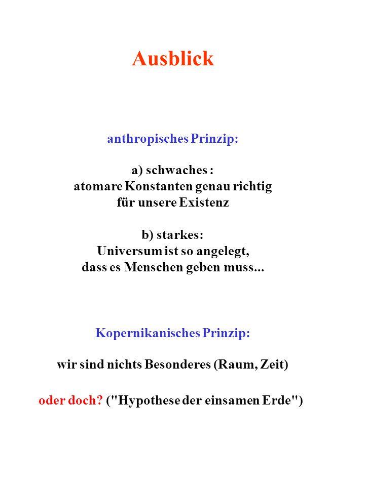 anthropisches Prinzip: Kopernikanisches Prinzip: