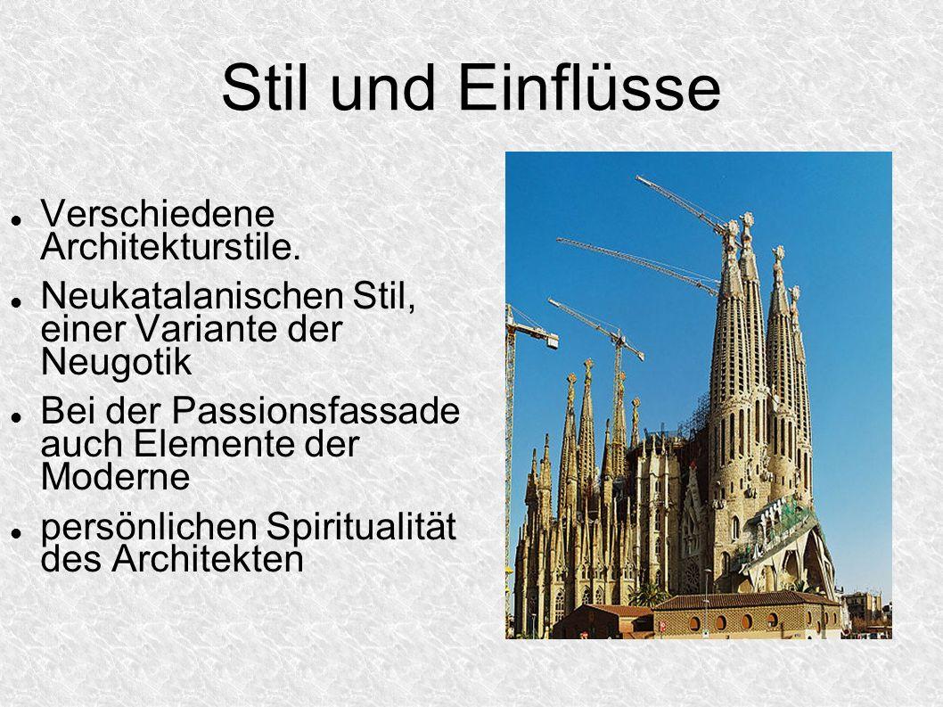 Stil und Einflüsse Verschiedene Architekturstile.