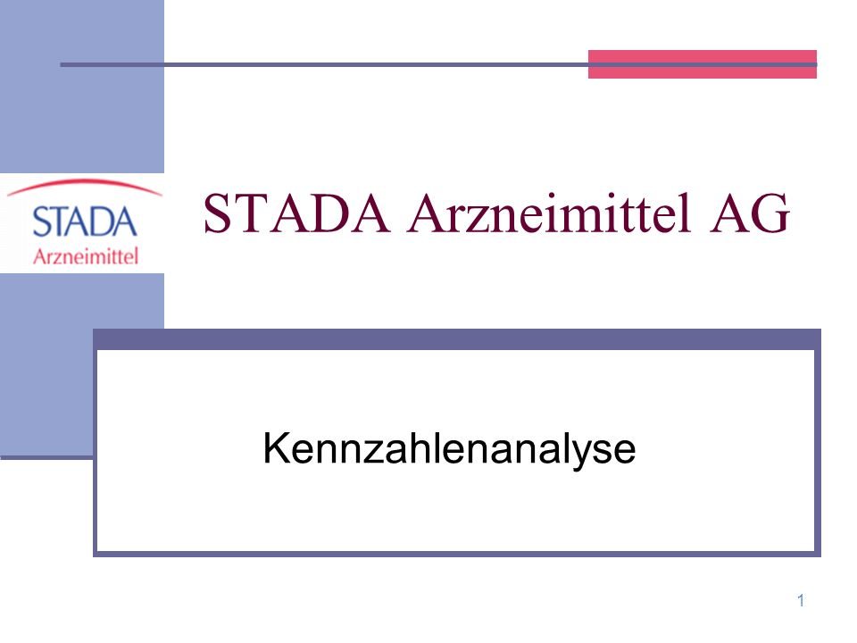 STADA Arzneimittel AG Kennzahlenanalyse