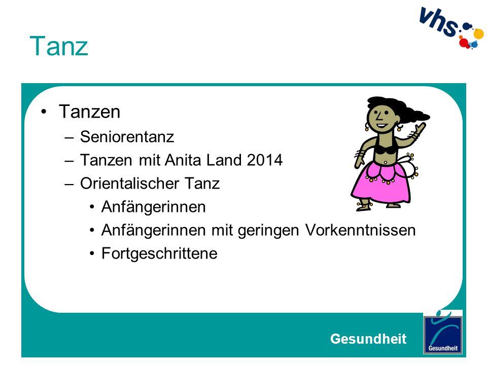 Tanz Tanzen Seniorentanz Tanzen mit Anita Land 2014