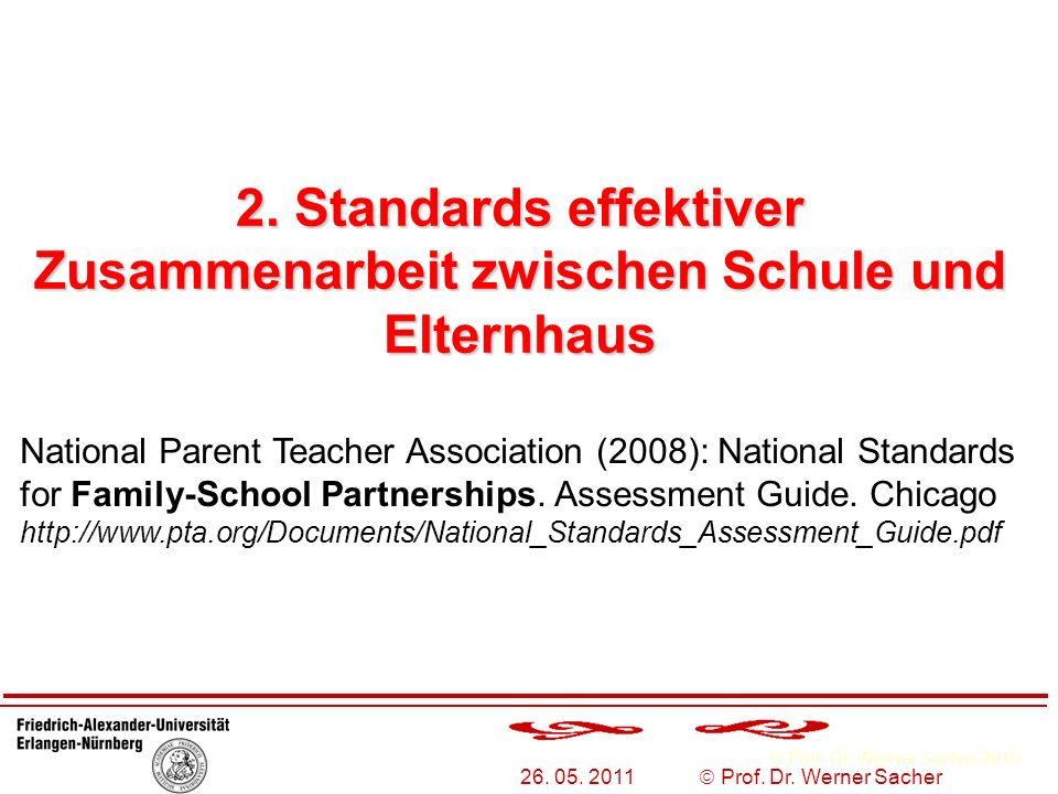 2. Standards effektiver Zusammenarbeit zwischen Schule und Elternhaus