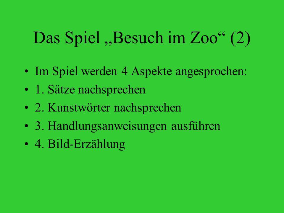 """Das Spiel """"Besuch im Zoo (2)"""