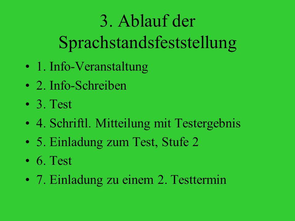 3. Ablauf der Sprachstandsfeststellung