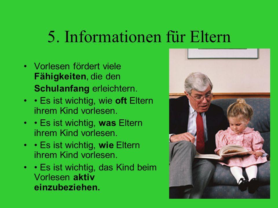 5. Informationen für Eltern