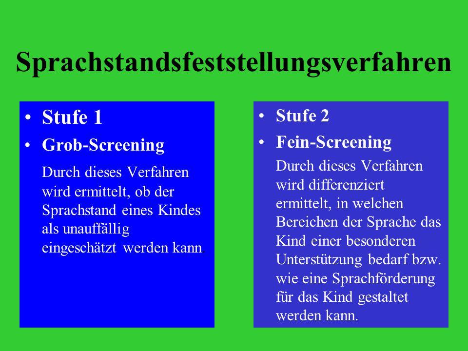 Sprachstandsfeststellungsverfahren