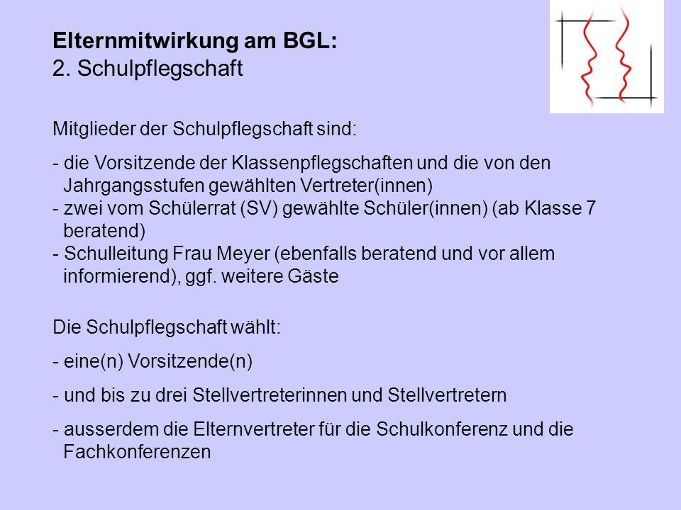 Elternmitwirkung am BGL: 2. Schulpflegschaft