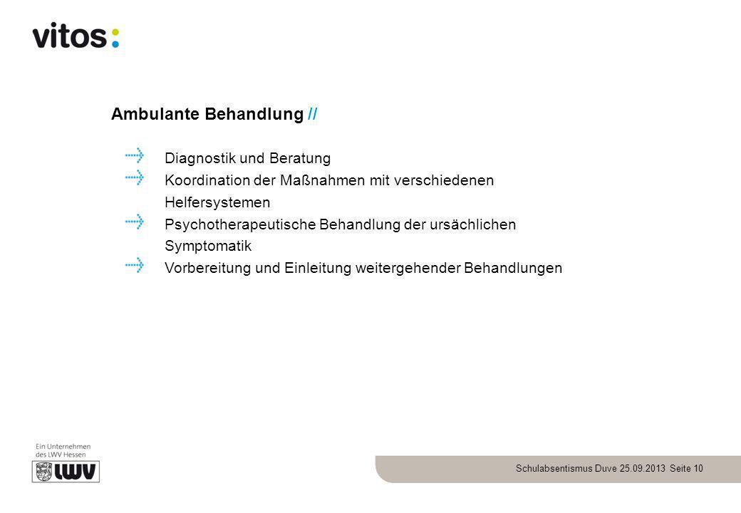 Ambulante Behandlung //