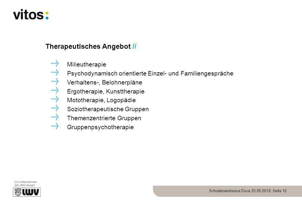 Therapeutisches Angebot //