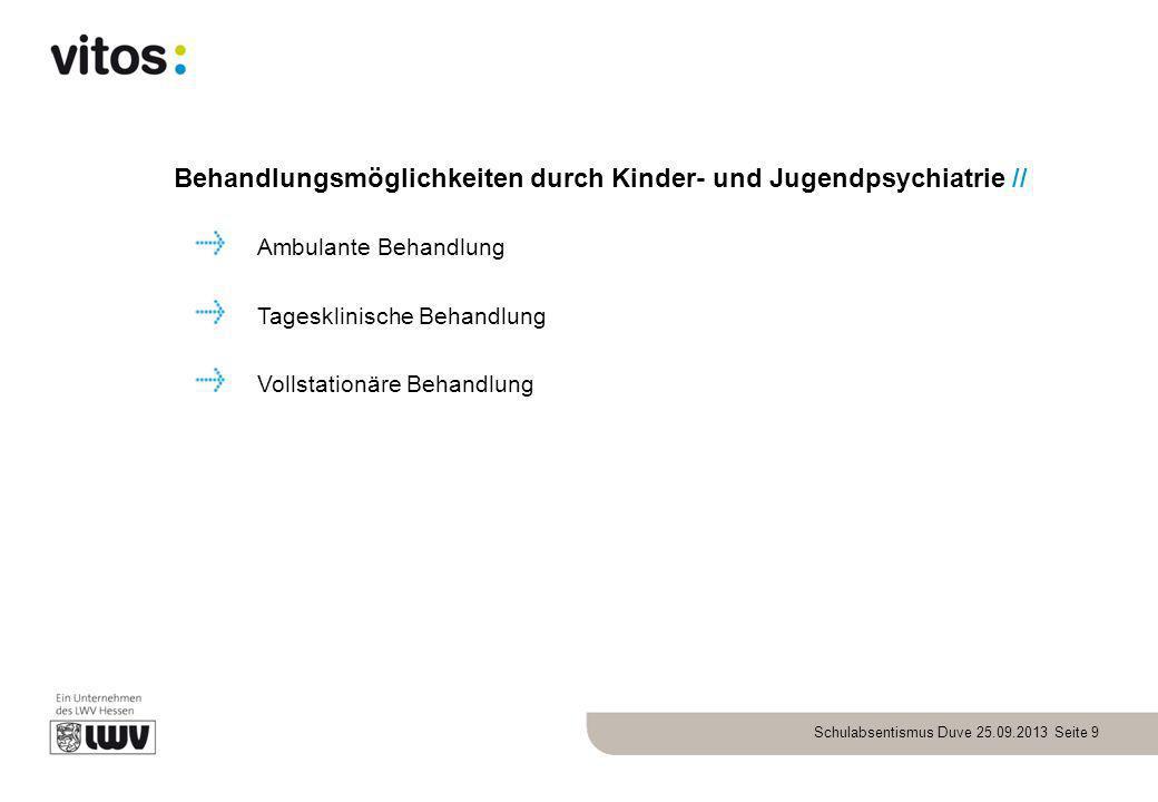 Behandlungsmöglichkeiten durch Kinder- und Jugendpsychiatrie //