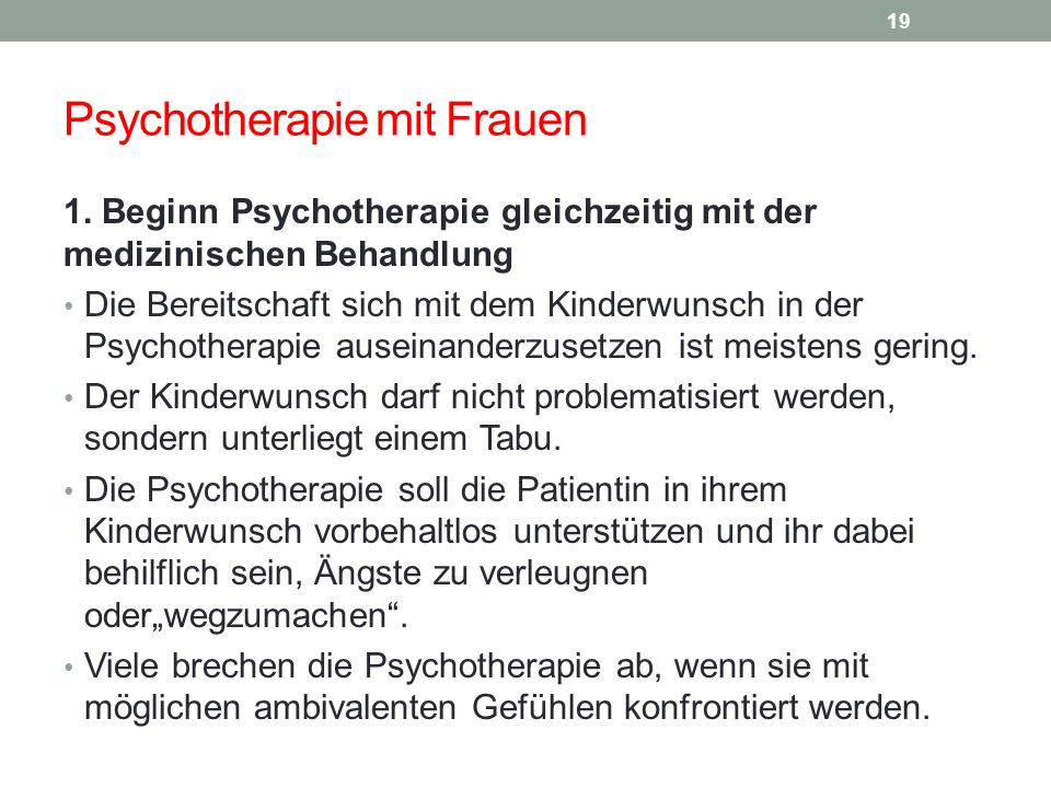 Psychotherapie mit Frauen