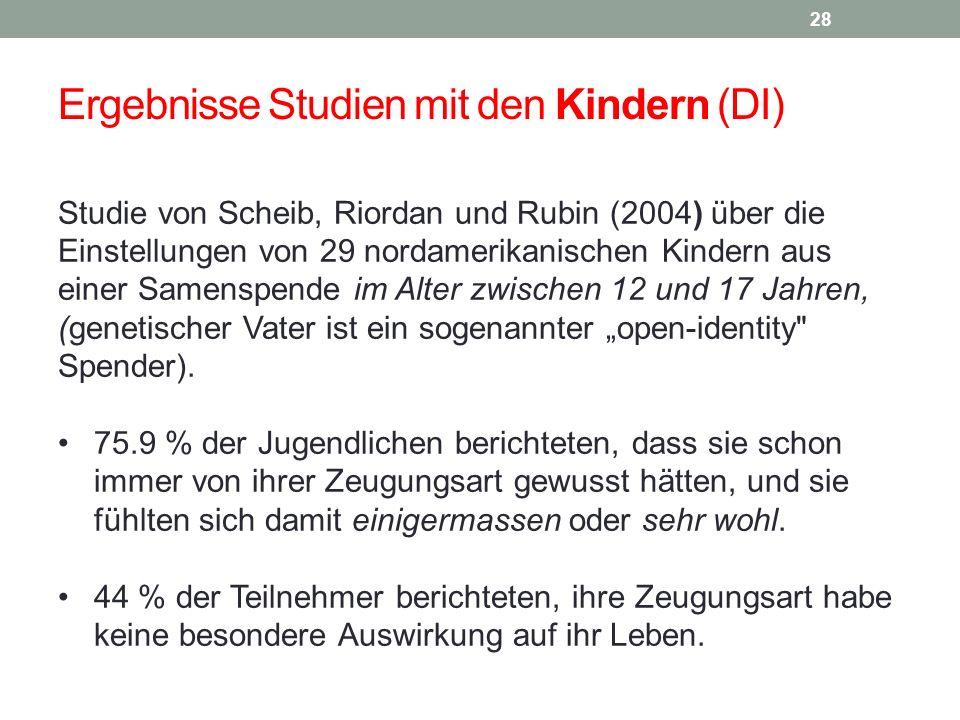 Ergebnisse Studien mit den Kindern (DI)