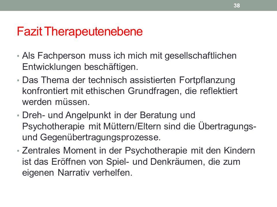 Fazit Therapeutenebene