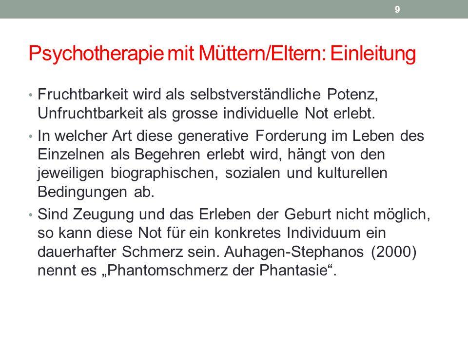 Psychotherapie mit Müttern/Eltern: Einleitung