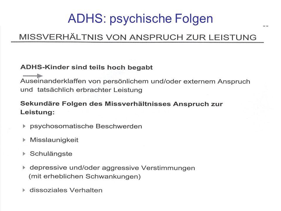 ADHS: psychische Folgen