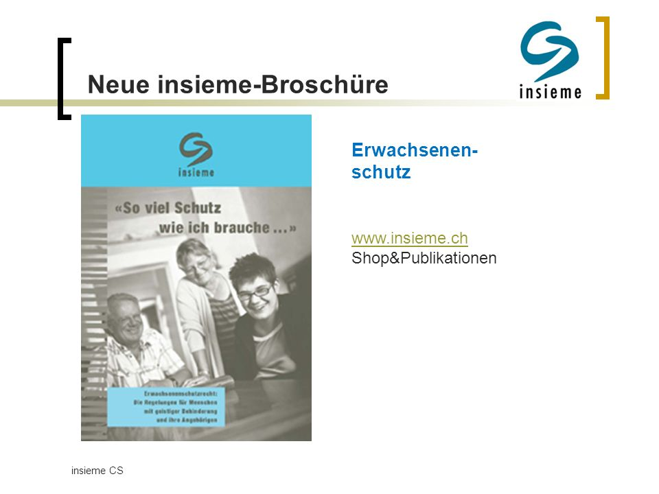 Neue insieme-Broschüre