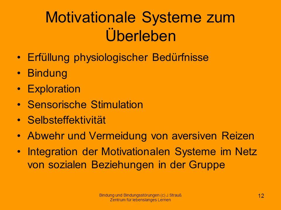 Motivationale Systeme zum Überleben