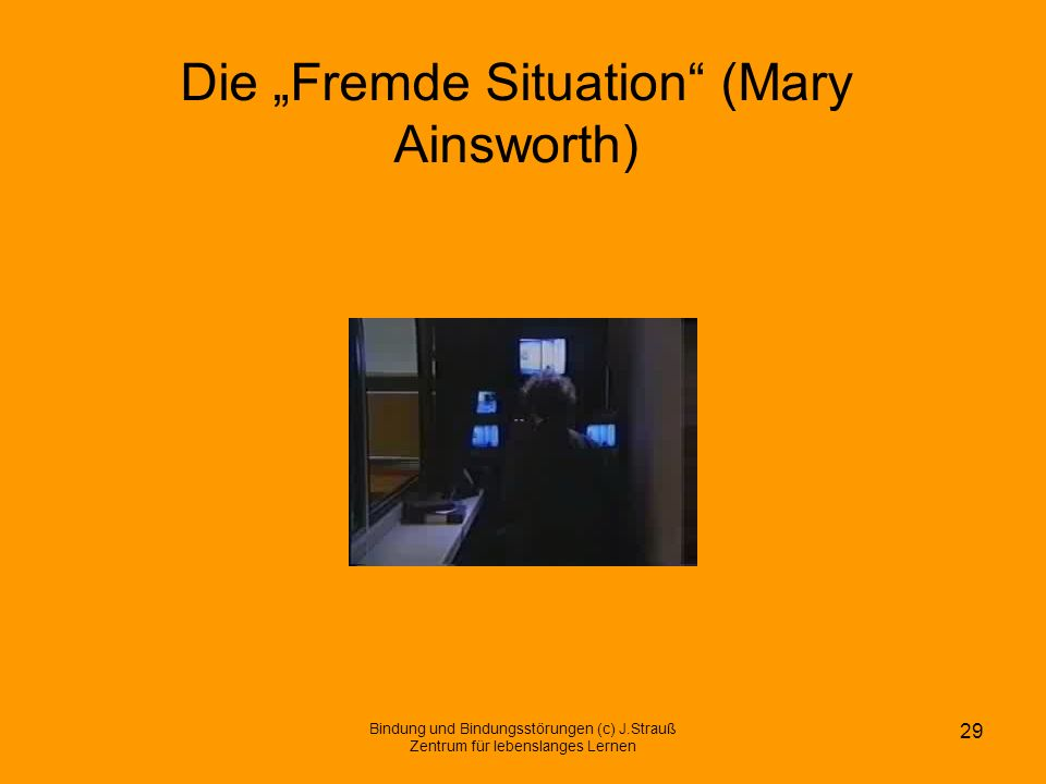 "Die ""Fremde Situation (Mary Ainsworth)"
