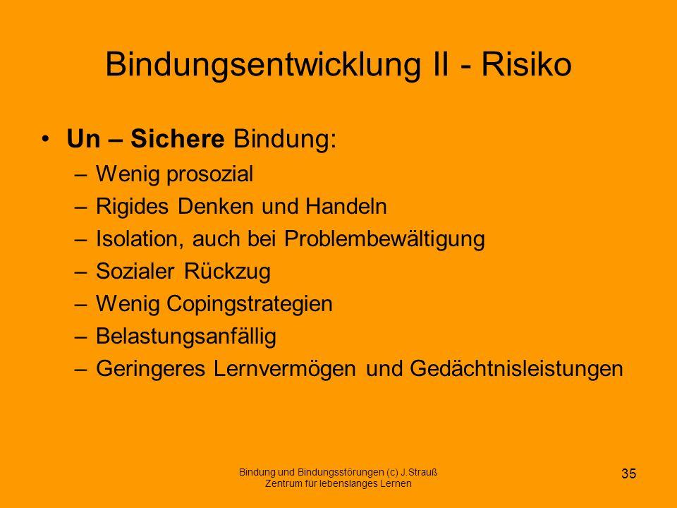 Bindungsentwicklung II - Risiko