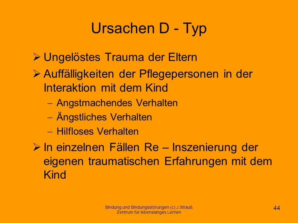 Ursachen D - Typ Ungelöstes Trauma der Eltern