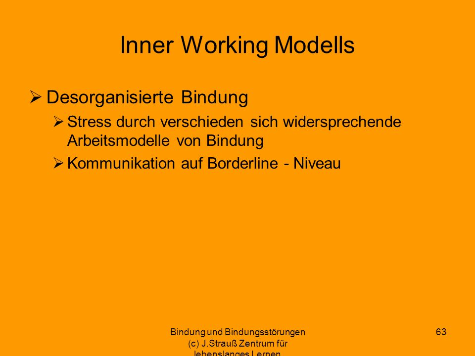 Inner Working Modells Desorganisierte Bindung
