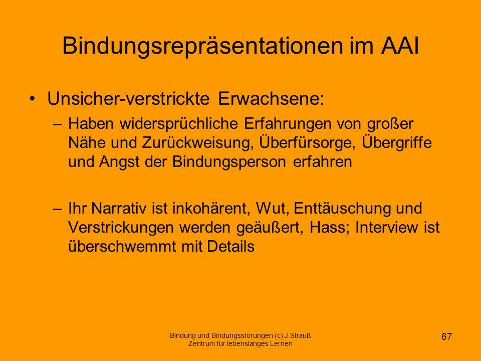 Bindungsrepräsentationen im AAI