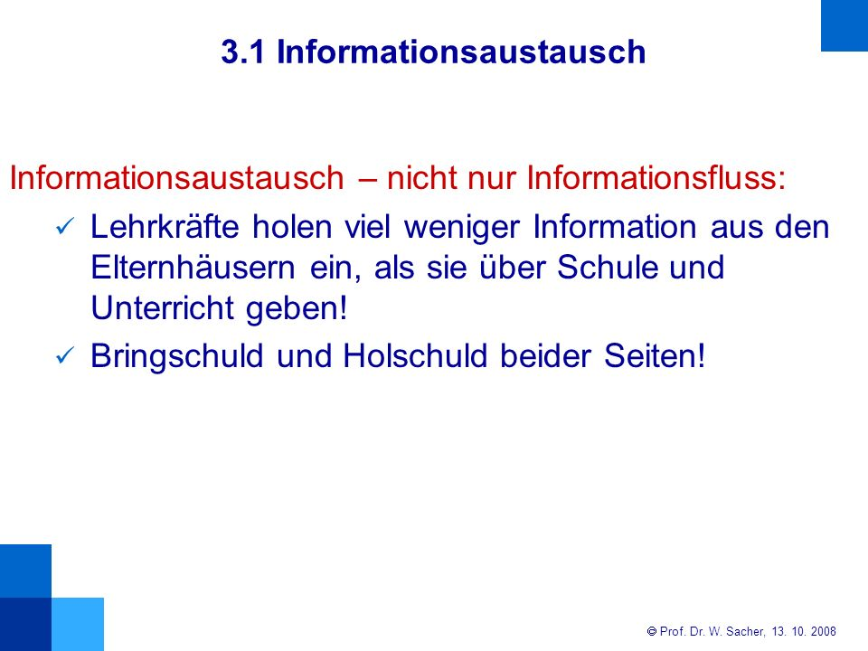 3.1 Informationsaustausch