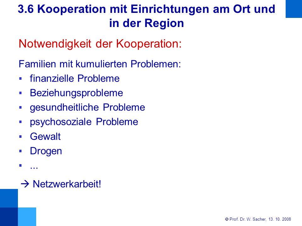 Notwendigkeit der Kooperation: