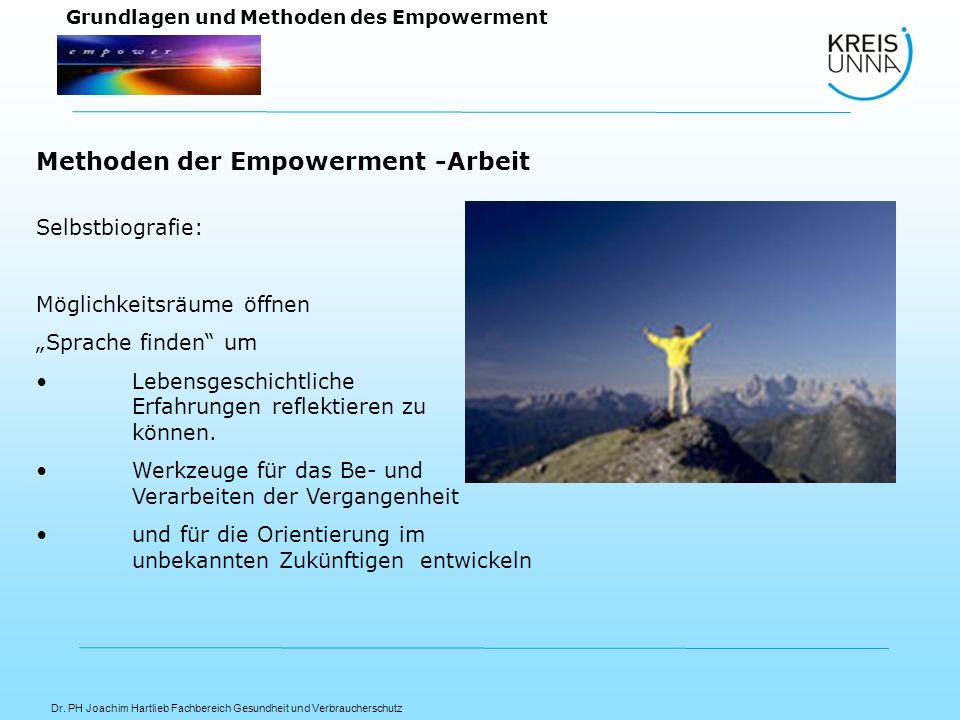 Methoden der Empowerment -Arbeit