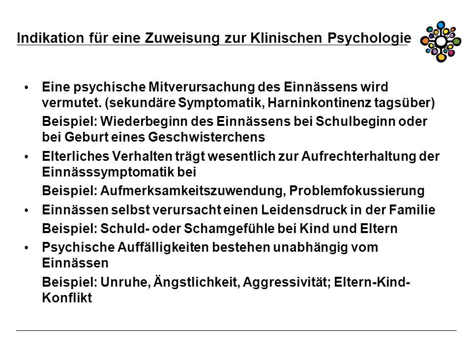Indikation für eine Zuweisung zur Klinischen Psychologie