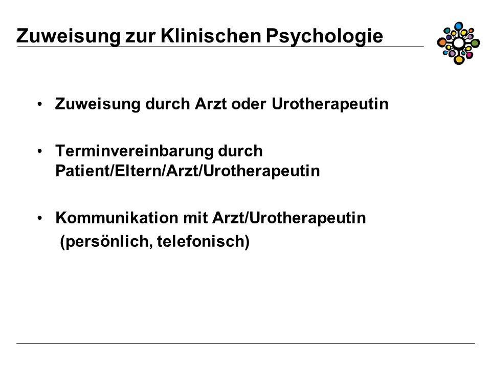 Zuweisung zur Klinischen Psychologie