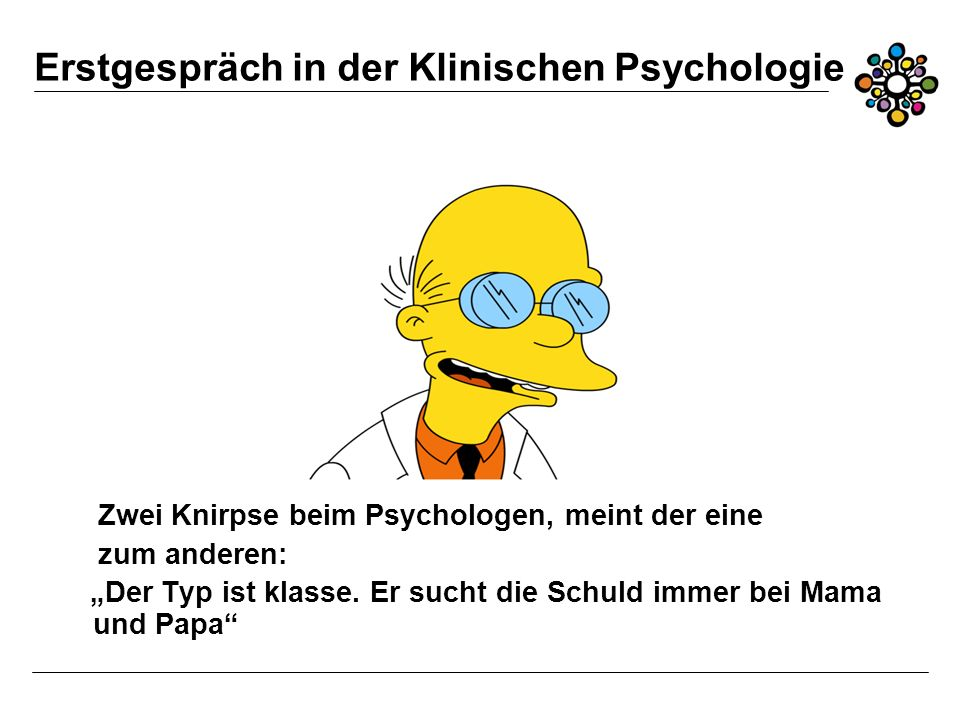 Erstgespräch in der Klinischen Psychologie