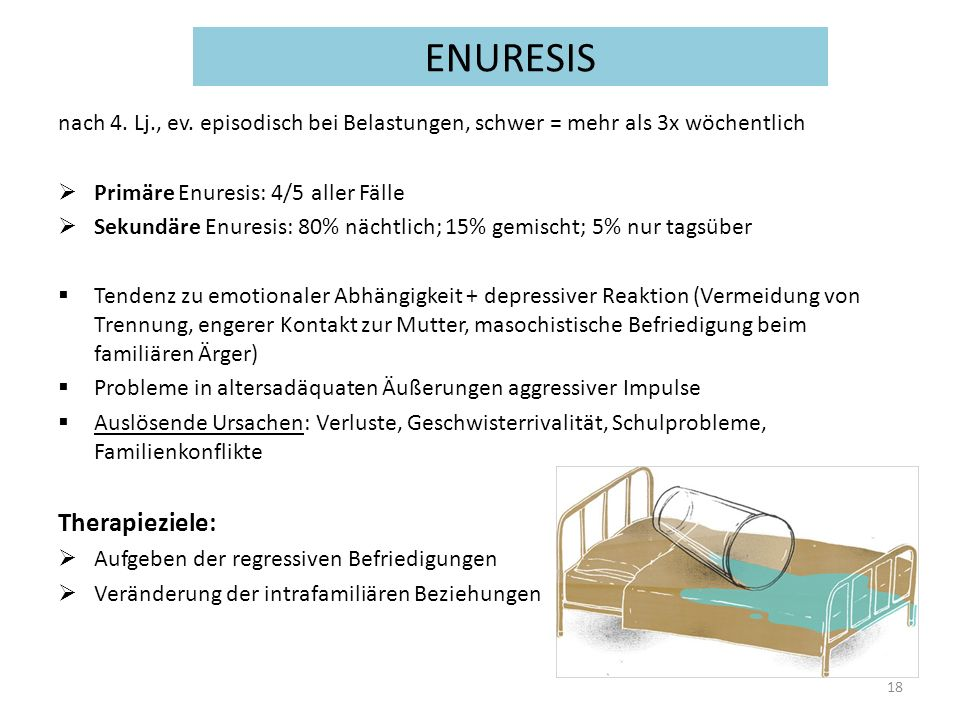ENURESIS Therapieziele: