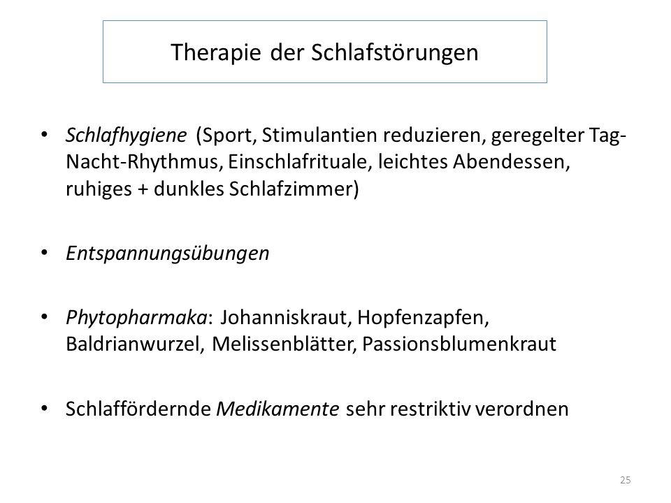 Therapie der Schlafstörungen