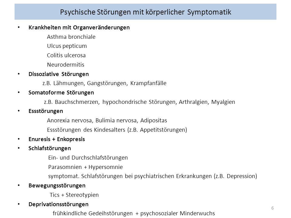 Psychische Störungen mit körperlicher Symptomatik