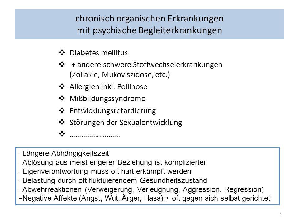 chronisch organischen Erkrankungen mit psychische Begleiterkrankungen