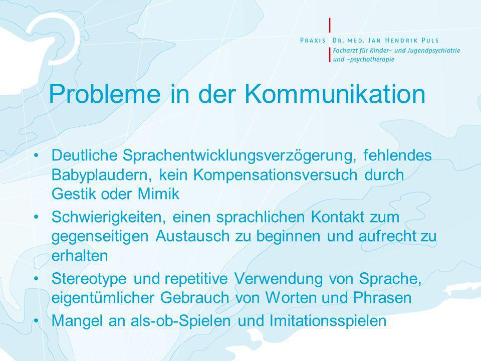 Probleme in der Kommunikation