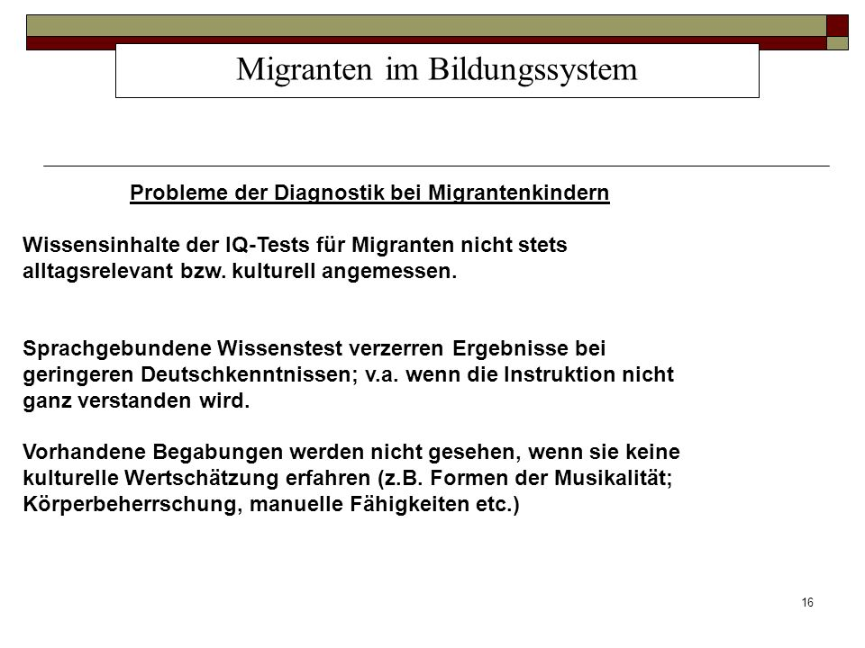 Migranten im Bildungssystem
